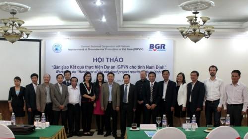 """Hội thảo Quản lý tổng hợp tài nguyên nước và Lễ bàn giao kết quả Dự án """"Tăng cường năng lực quy hoạch và điều tra nước ngầm cho tỉnh Nam Định"""""""