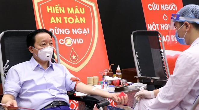 """Bộ Tài nguyên và Môi trường tổ chức hiến máu nhân đạo hưởng ứng lời kêu gọi của Tổng Bí thư, Chủ tịch nước """"Toàn dân tham gia hiến máu tình nguyện"""""""